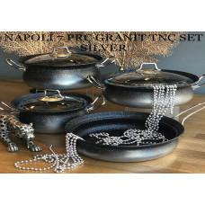 Napoli Silver 7 Parça Granit Tencere Takımı